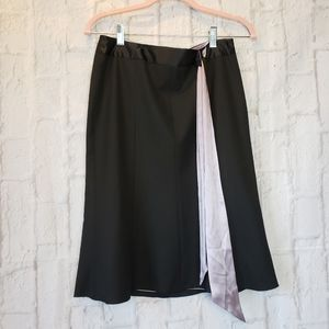 THE LIMITED NWT Fit n Flare Black Skirt Women's 2